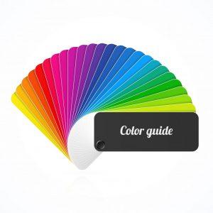 看板のカラー配色
