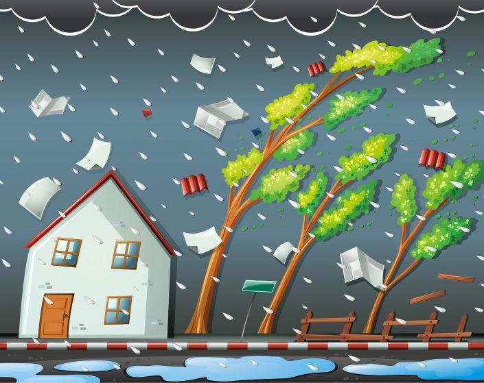 強風時の看板対策